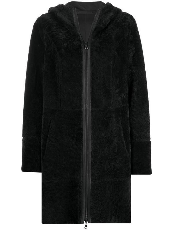 Arma reversible goat coat in grey