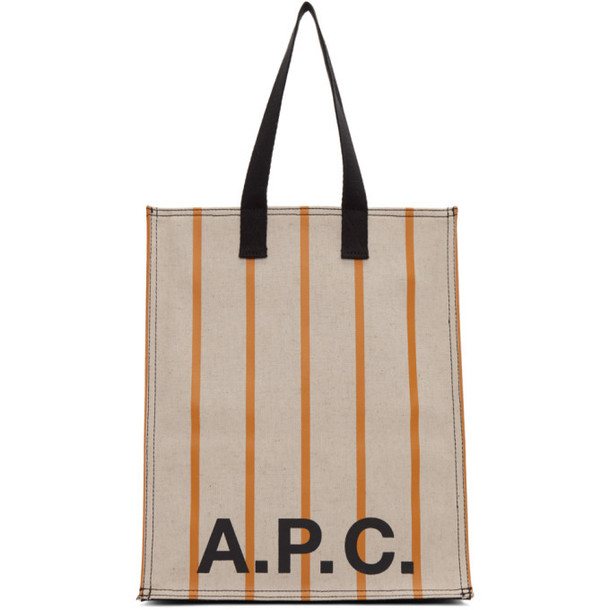 A.P.C. A.P.C. Beige Construction Shopping Tote
