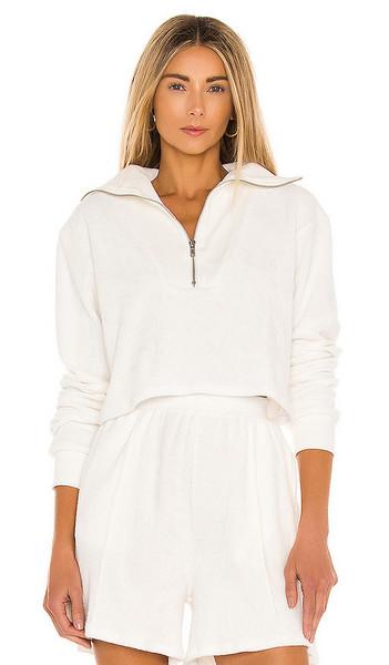 Lovers + Friends Lovers + Friends Half Zip Pullover in White