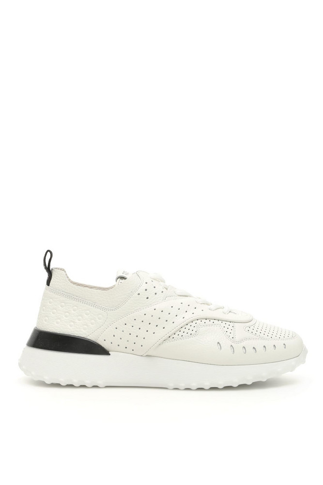 Tods Perforated Sneakers in white