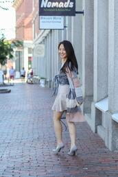 sensible stylista,blogger,top,bag,shoes,skirt,cardigan,spring outfits,high heel pumps