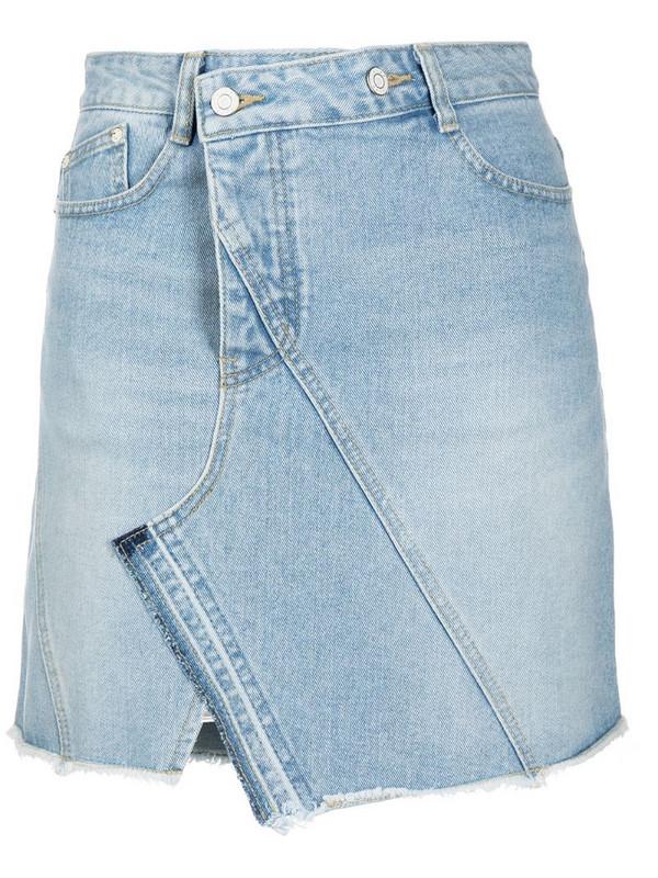 SJYP asymmetric denim skirt in black