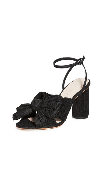 Loeffler Randall Camellia Knot Mule With Ankle Strap in black
