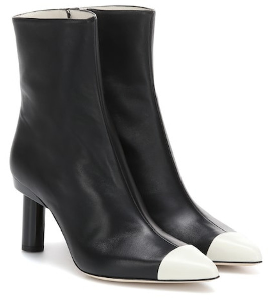 Tibi Grant leather ankle boots in black