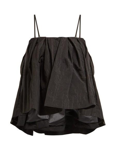 Simone Rocha - Textured Taffeta Top - Womens - Black