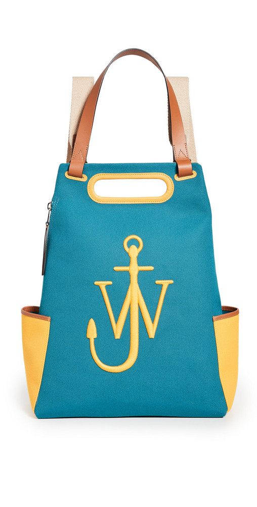 JW Anderson Anchor Backpack in blue / yellow