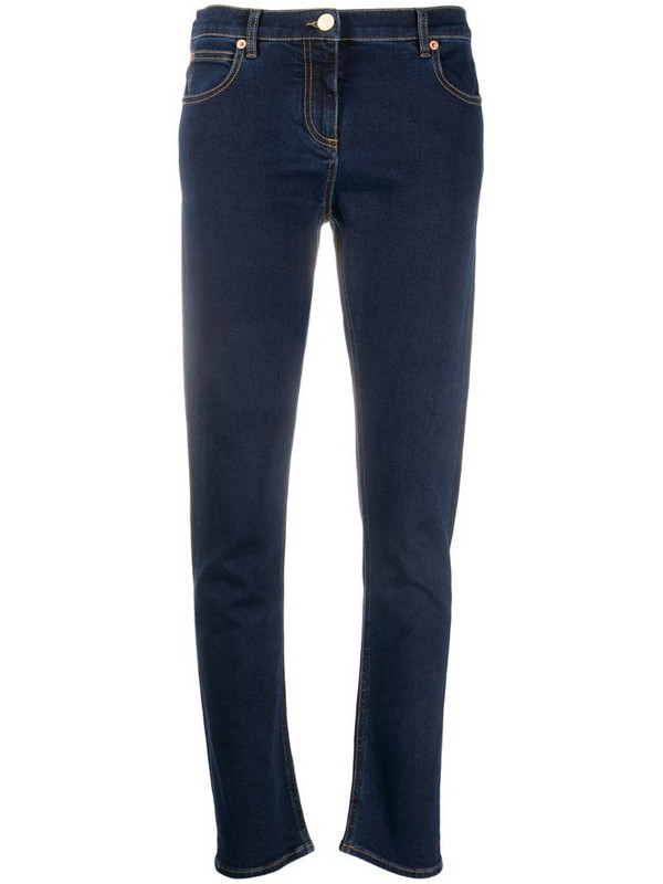 Valentino mid-rise skinny jeans in blue