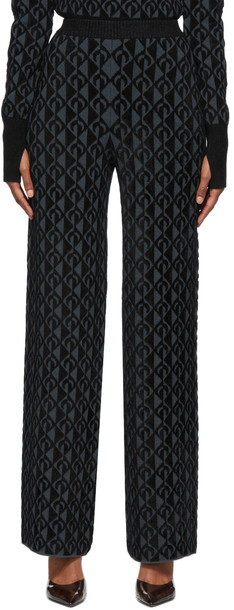 Marine Serre Black & Grey Moon Lozenge Lounge Pants