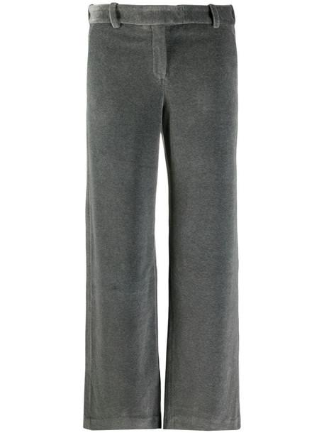 Circolo 1901 velvet effect trousers in grey