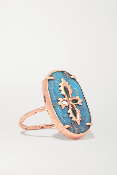 Pascale Monvoisin - Sunday 9-karat Rose Gold Turquoise Ring