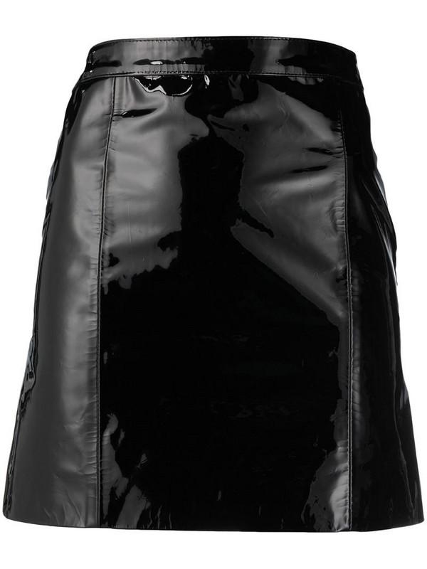 Manokhi high-waisted high-shine finish skirt in black