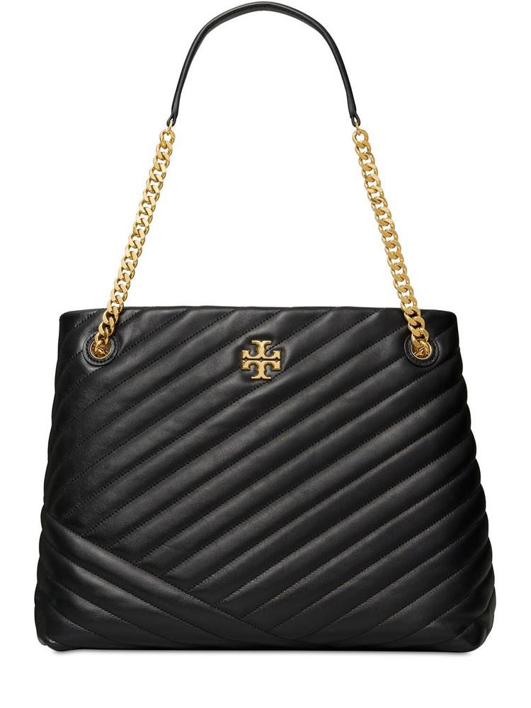 TORY BURCH Kira Chevron Tote Bag in black