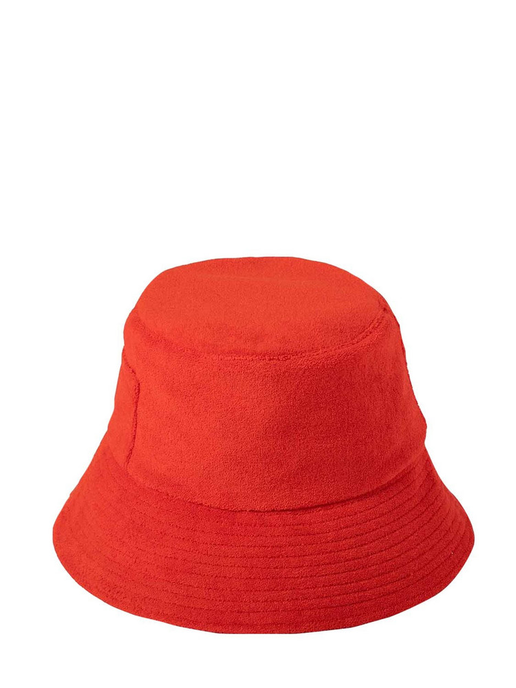 LACK OF COLOR Wave Bucket Terry Cotton Cloth Hat in red