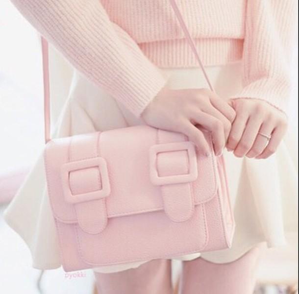 bag, kawaii, shabby chic, pink, purse, purse and bag, pink purse, pink bag  - Wheretoget