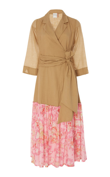 La Costa del Algodón Dominika Two-Tone Dress in multi