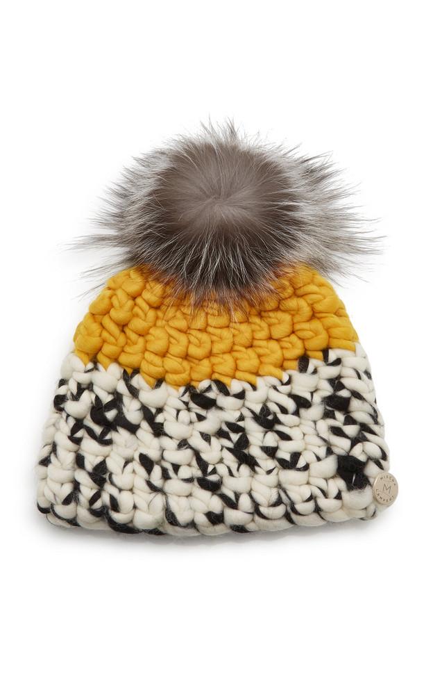 Mischa Lampert Color-Block Wool Beanie in yellow