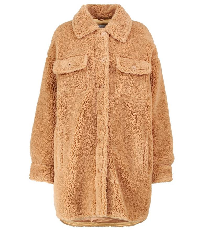 Stand Studio Kristy faux shearling jacket in beige