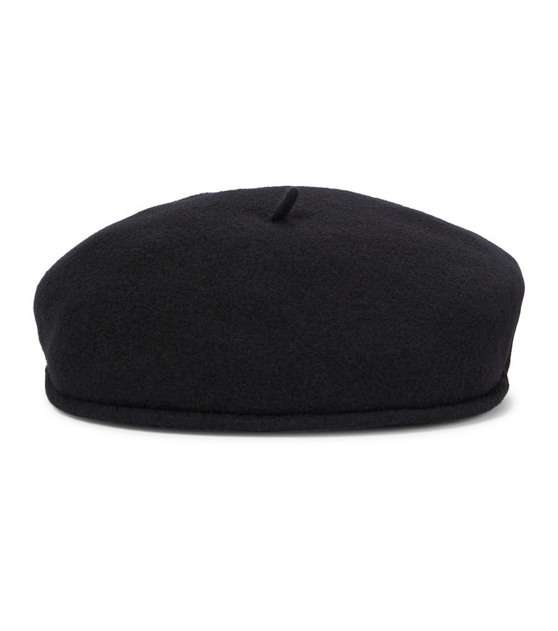 Marine Serre Embroidered beret in black