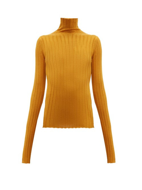 Petar Petrov - Karen Merino Wool High Neck Sweater - Womens - Orange