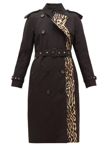 Burberry - Bridstow Leopard-print Cotton Trench Coat - Womens - Leopard