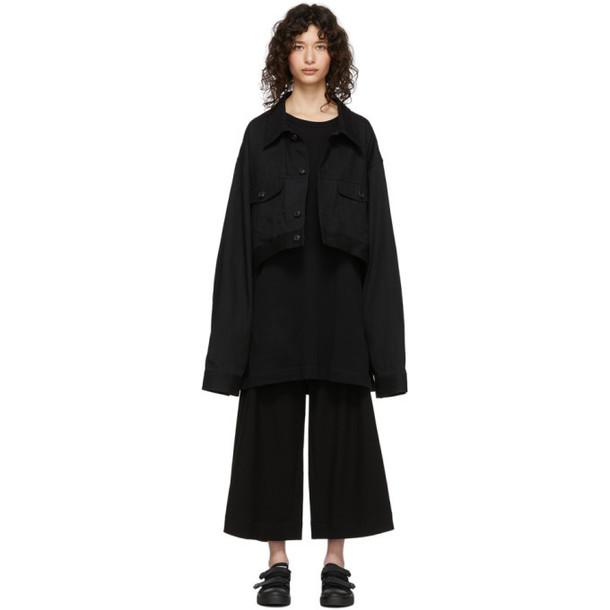 Regulation Yohji Yamamoto Black Denim R-Short Jacket