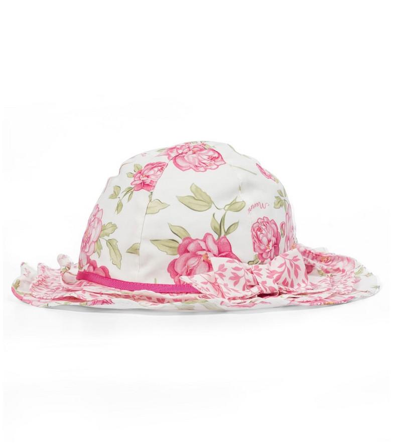 Monnalisa Floral sun hat in white