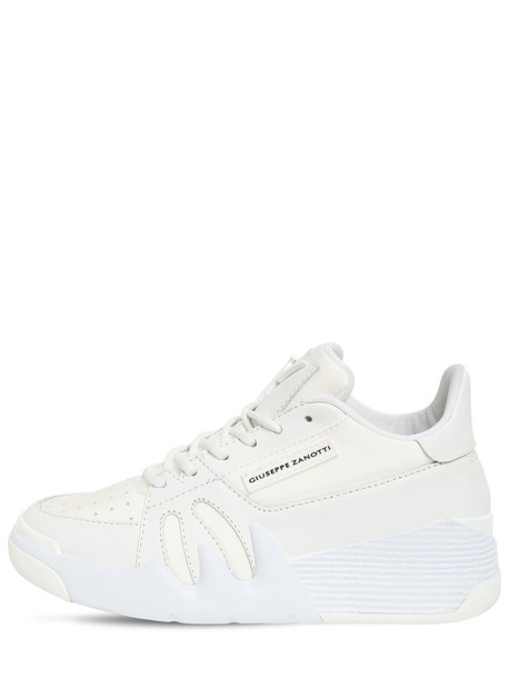 GIUSEPPE ZANOTTI 40mm Leather & Mesh Sneakers in white