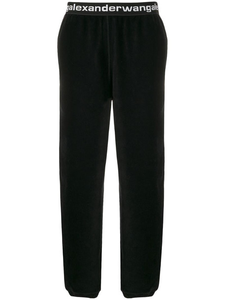 Alexander Wang logo band corduroy trousers in black