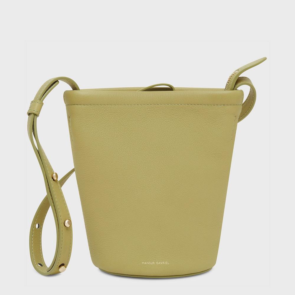 Mansur Gavriel Mini Zip Bucket Bag - Lime