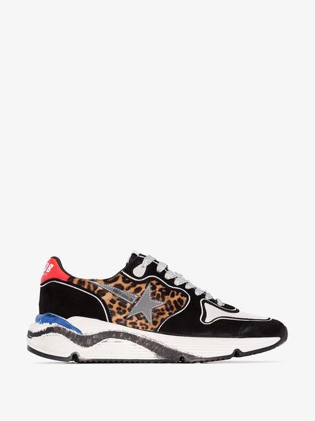 Golden Goose Running leopard-print panel sneakers