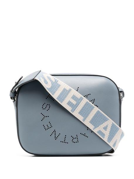 Stella McCartney Stella Logo perforated crossbody bag in blue