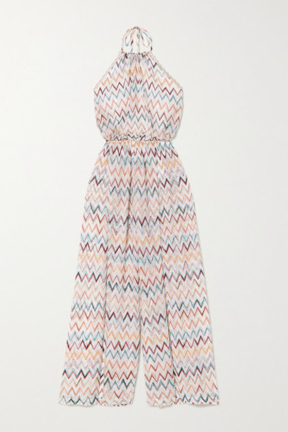 Missoni - Crochet-knit Halterneck Jumpsuit - White