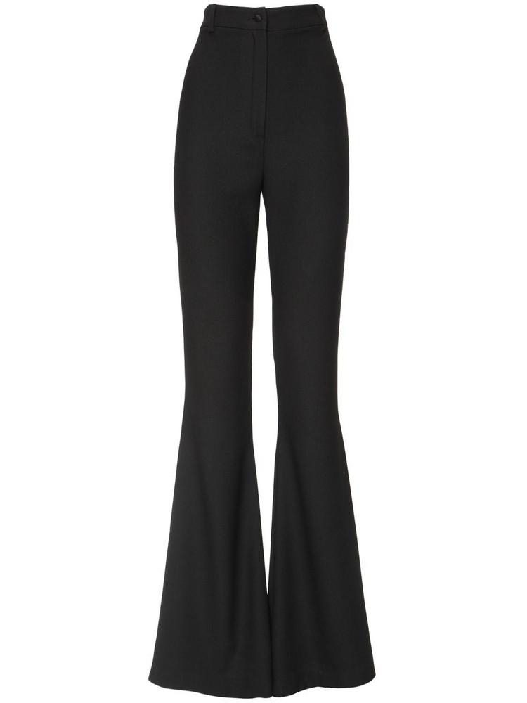 HEBE STUDIO Bianca High Waist Flared Cady Pants in black