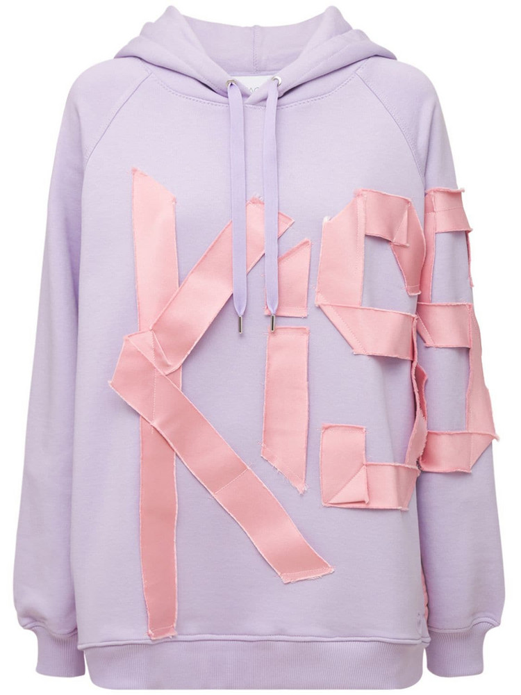 AZ FACTORY Organic Cotton Sweatshirt Hoodie in purple