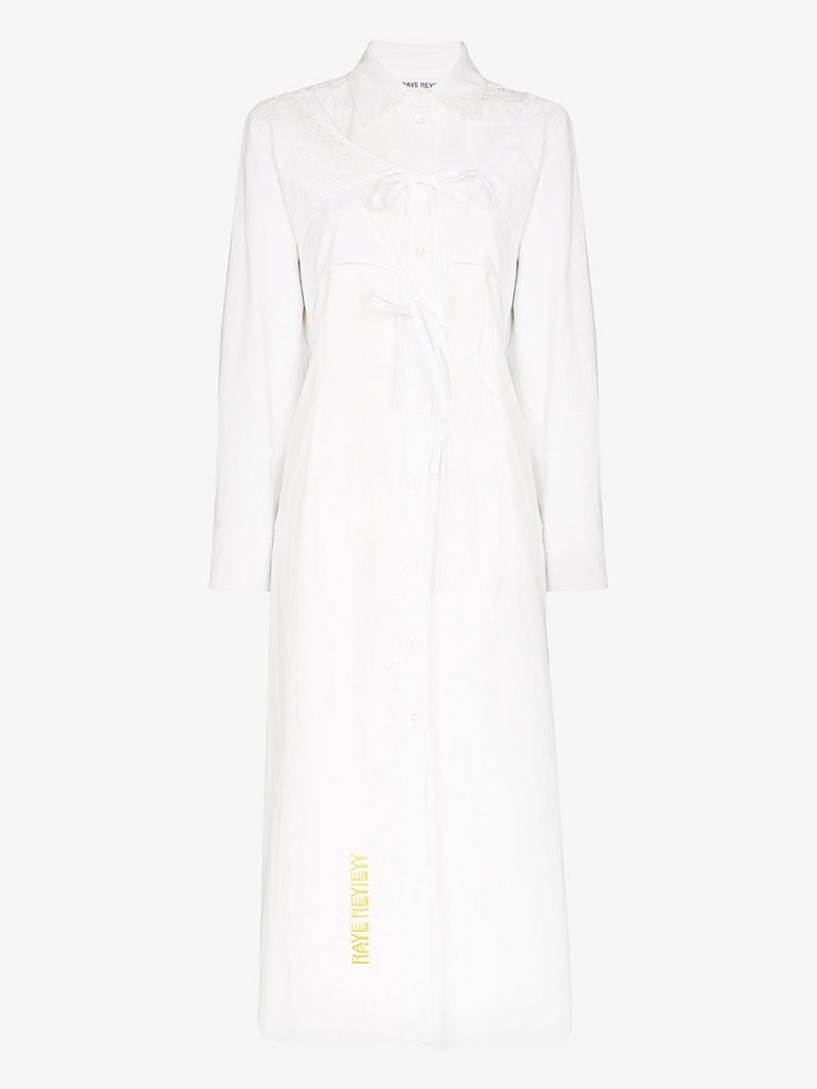 Rave Review Selma cotton midi shirt dress in white