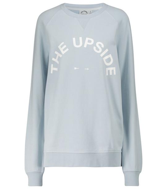 THE UPSIDE Long-sleeved cotton sweatshirt in grey
