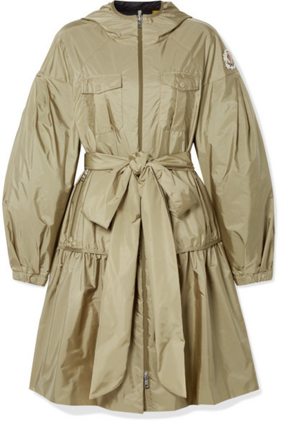 Moncler Genius - 4 Simone Rocha Ellen Hooded Embellished Ruffled Shell Jacket - Beige