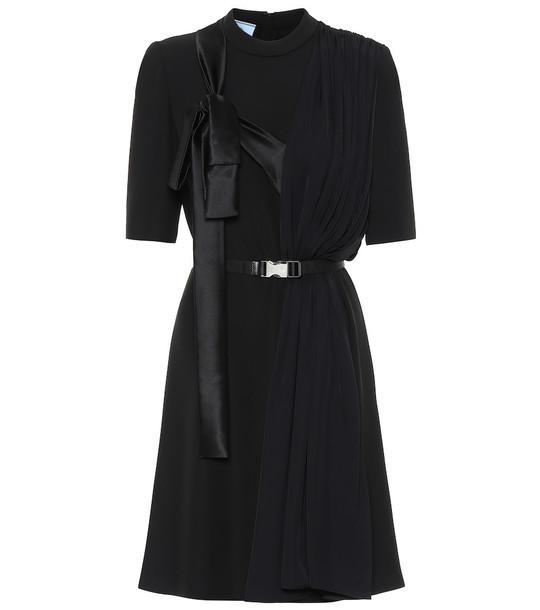 Prada Belted minidress in black