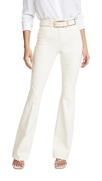 L'AGENCE Joplin High Rise Flare Jeans in white