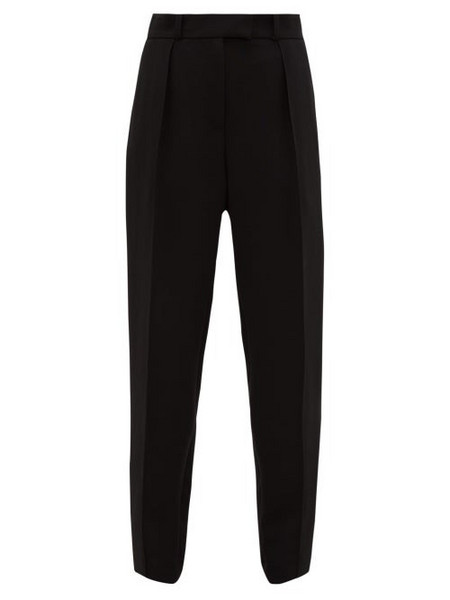 A.P.C. A.p.c. - Sandra Pintucked Crepe Trousers - Womens - Black