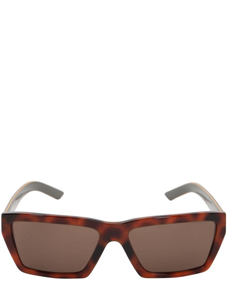 PRADA Logo Squared Acetate Sunglasses in black