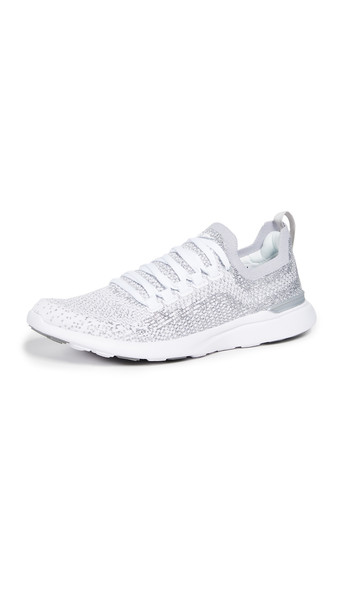 APL: Athletic Propulsion Labs TechLoom Breeze Sneakers in metallic / silver / white