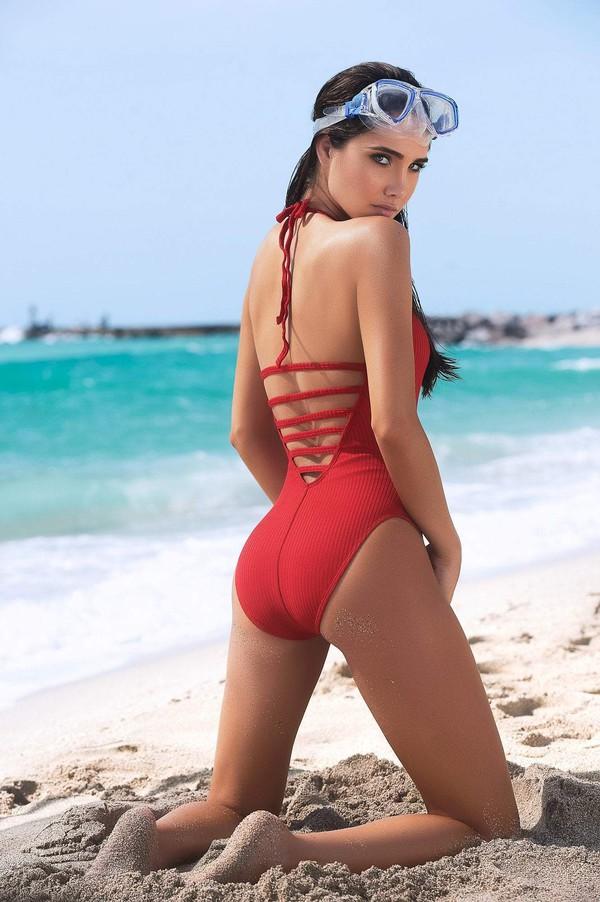 swimwear red swimsuits red swimwear designer swimwear ribbed swimsuit