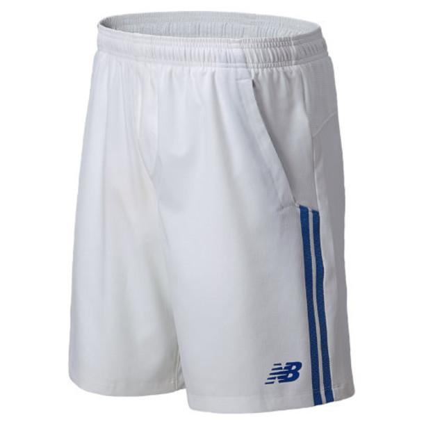 New Balance 5147 Men's Tournament 9 Inch Short - White, Blue (MTS5147WT)