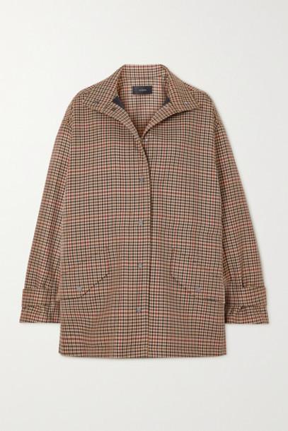 Joseph - Calypso Checked Wool-blend Jacket - Brown