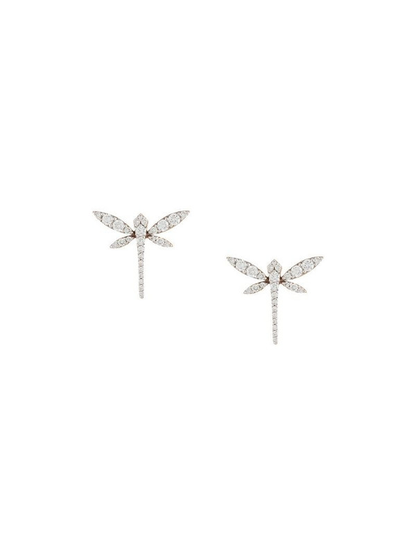 Anapsara 18kt rose gold and diamond Mini Dragonfly earrings in pink