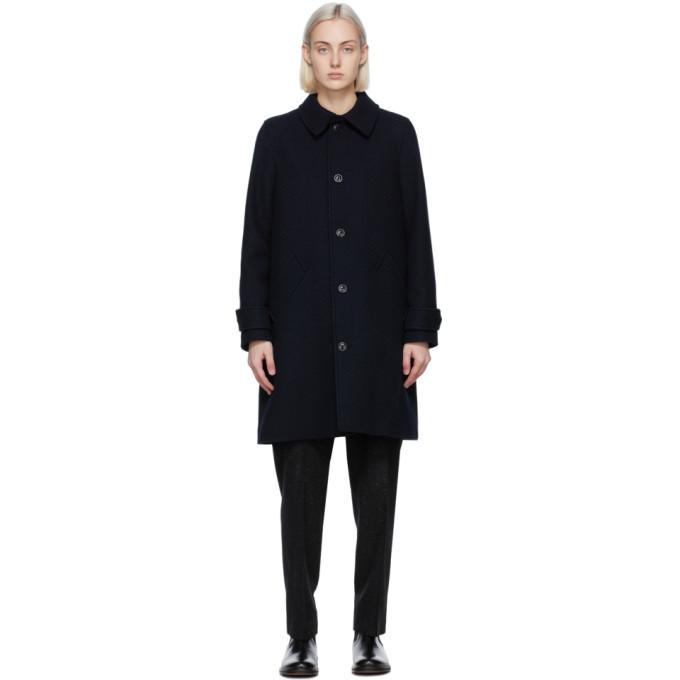 A.P.C. A.P.C. Navy Tweed Suzanne Coat