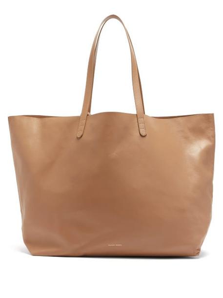 Mansur Gavriel - Oversized Leather Tote Bag - Womens - Beige
