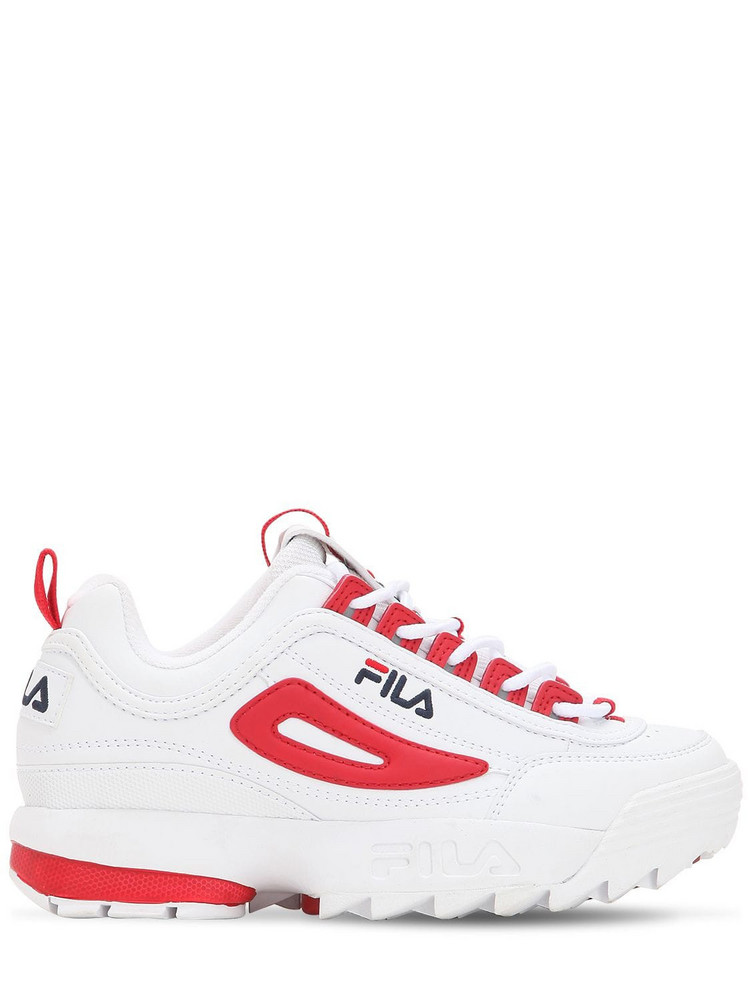 FILA URBAN Disruptor Cb Faux Leather Low Sneakers in red / white