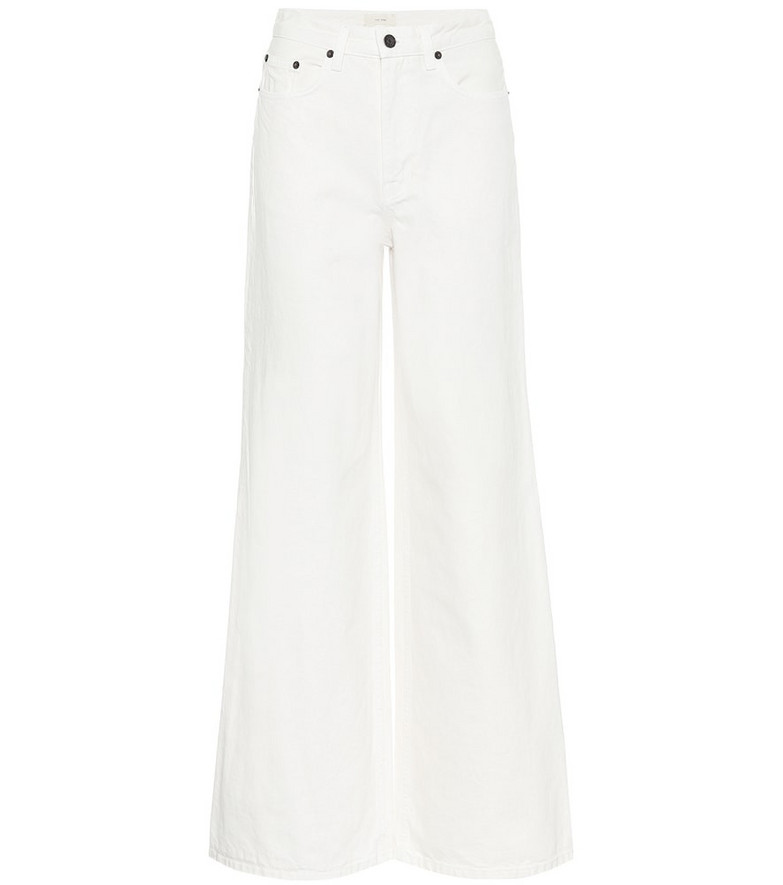 The Row Issa high-rise wide jeans in white